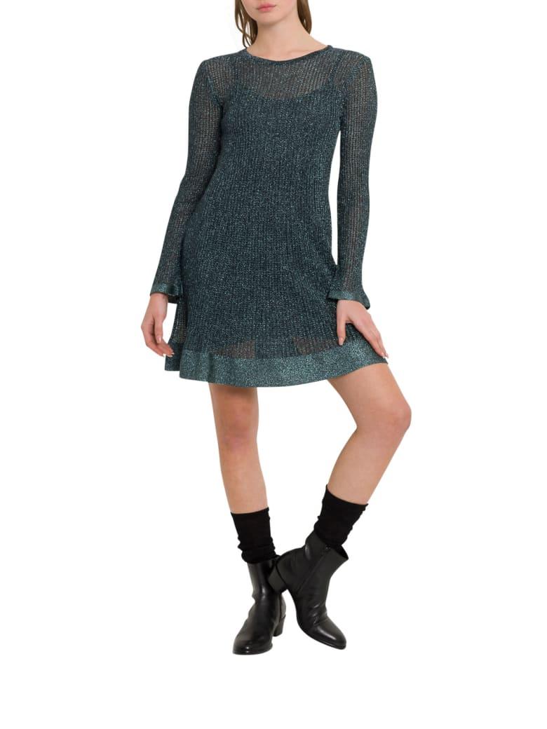 M Missoni Lurex Knit Midi Dress - Verde