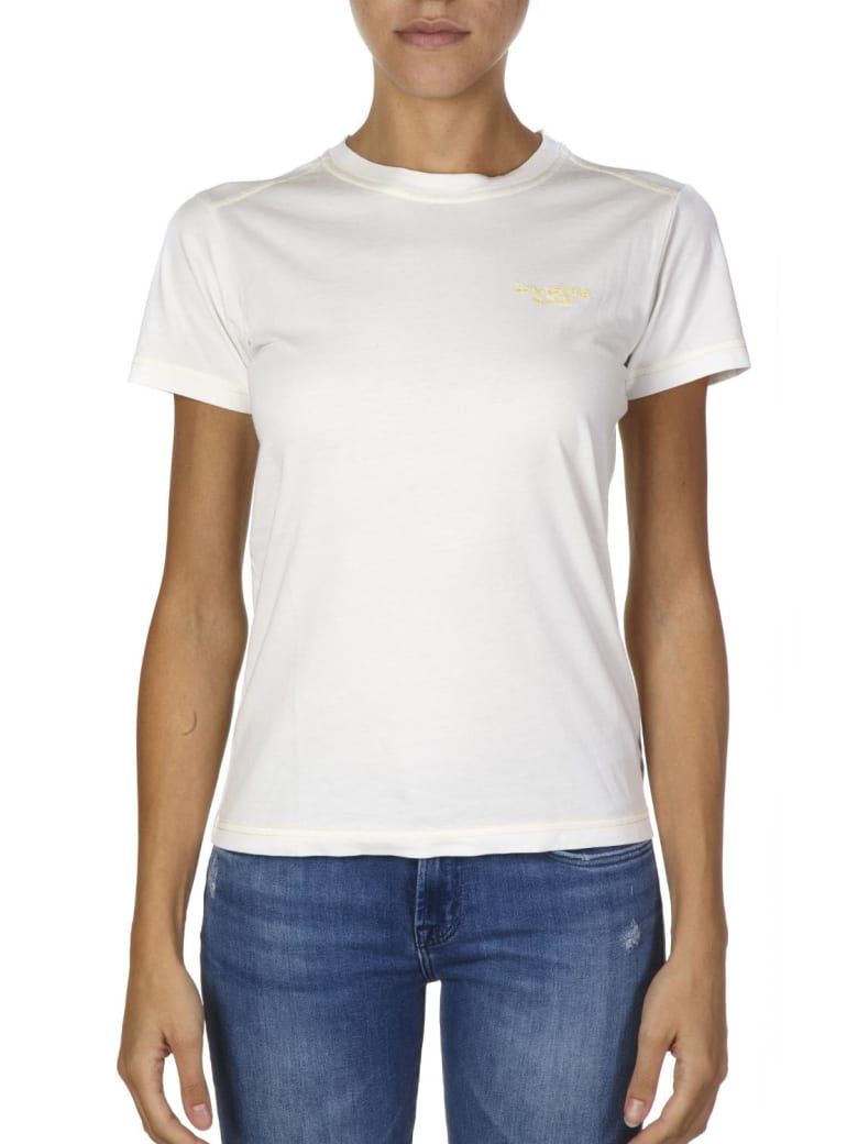 Acne Studios White Cotton T-shirt With Embroidered Logo - White