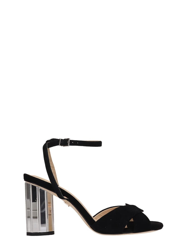 Lola Cruz Black Suede Sandals - black
