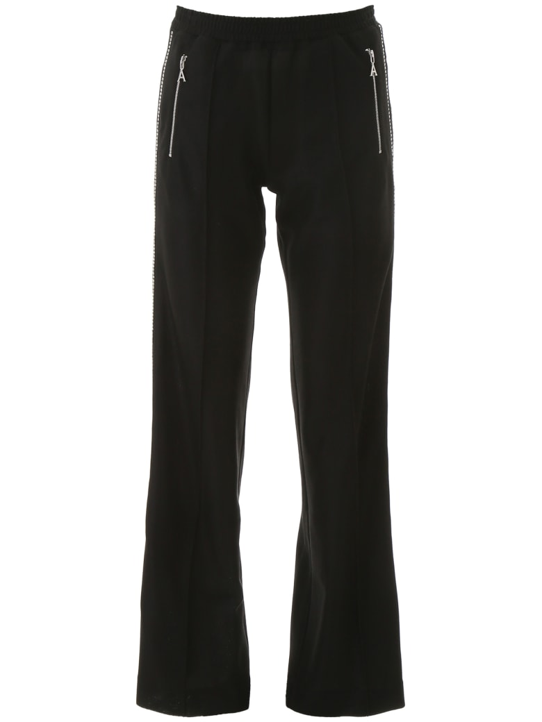 AREA Crystal-embellished Trousers - BLACK (Black)