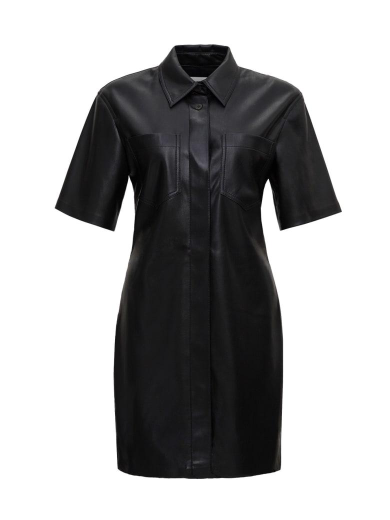 Nanushka Vegan Leather Dress - Black