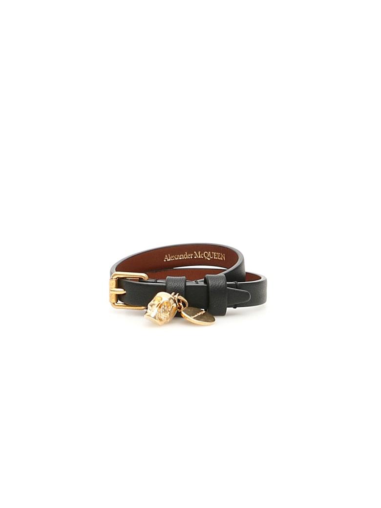 Alexander McQueen Double Wrap Bracelet - BLACK (Black)