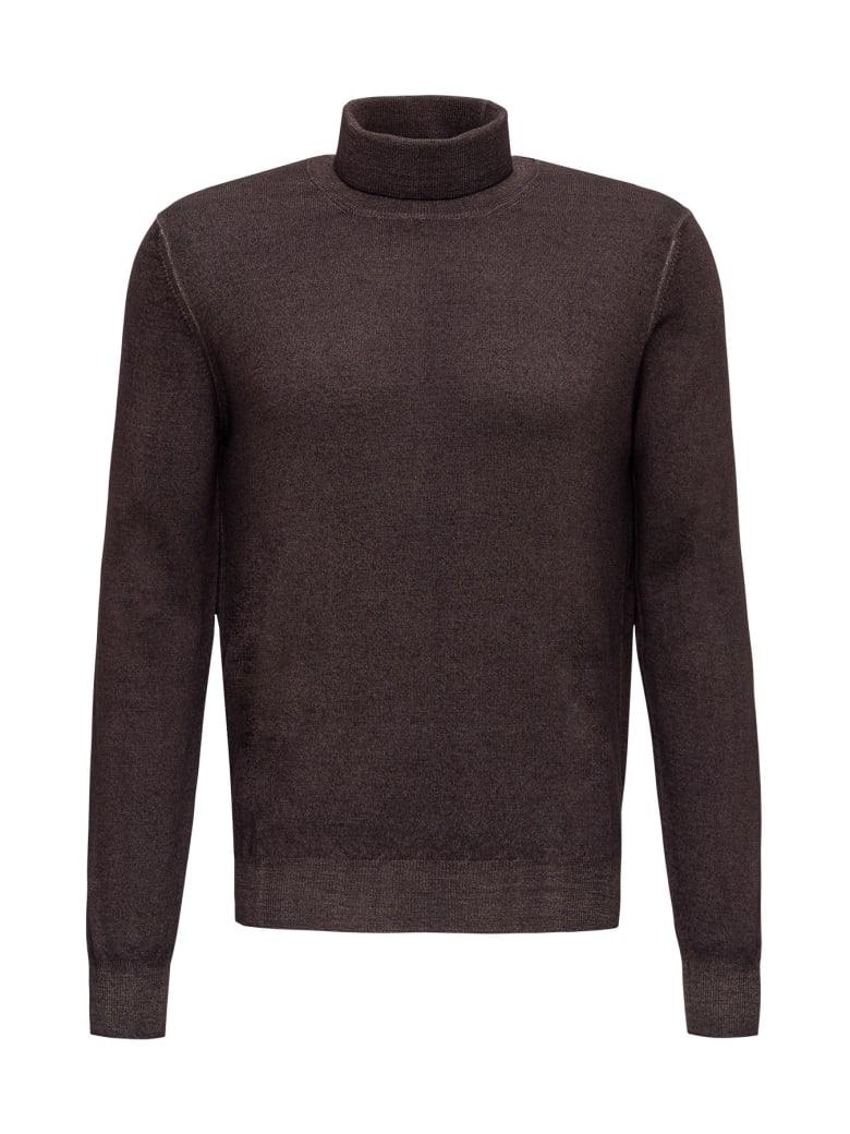 Tagliatore Wool Turtleneck - Brown