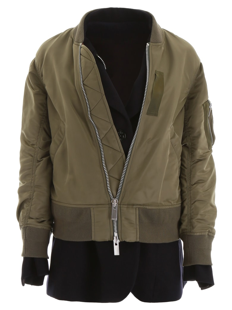 Sacai Layered Jacket - KHAKI NAVY (Blue)