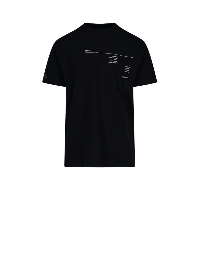 Marcelo Burlon Graphic Abstract Print T-shirt - Black