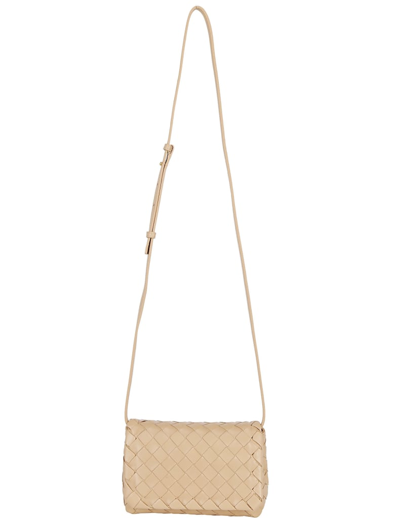 Bottega Veneta Mini Shoulder Bag - Cipria/gold