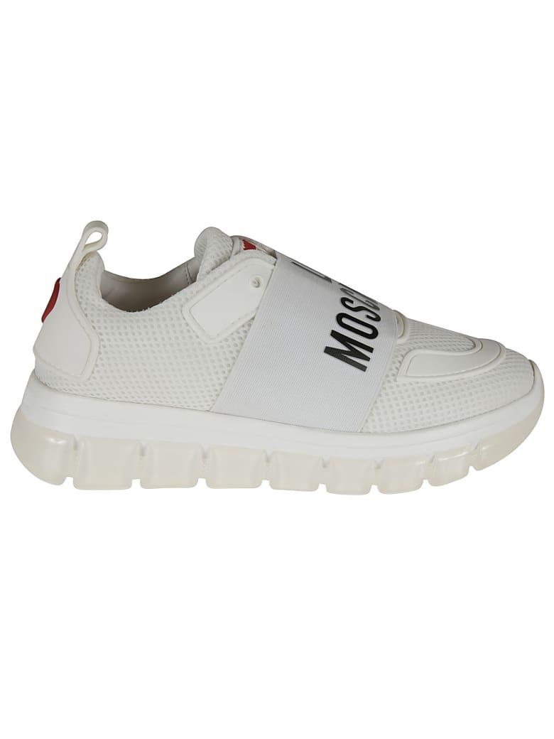 Love Moschino Logo Sock Sneakers - white