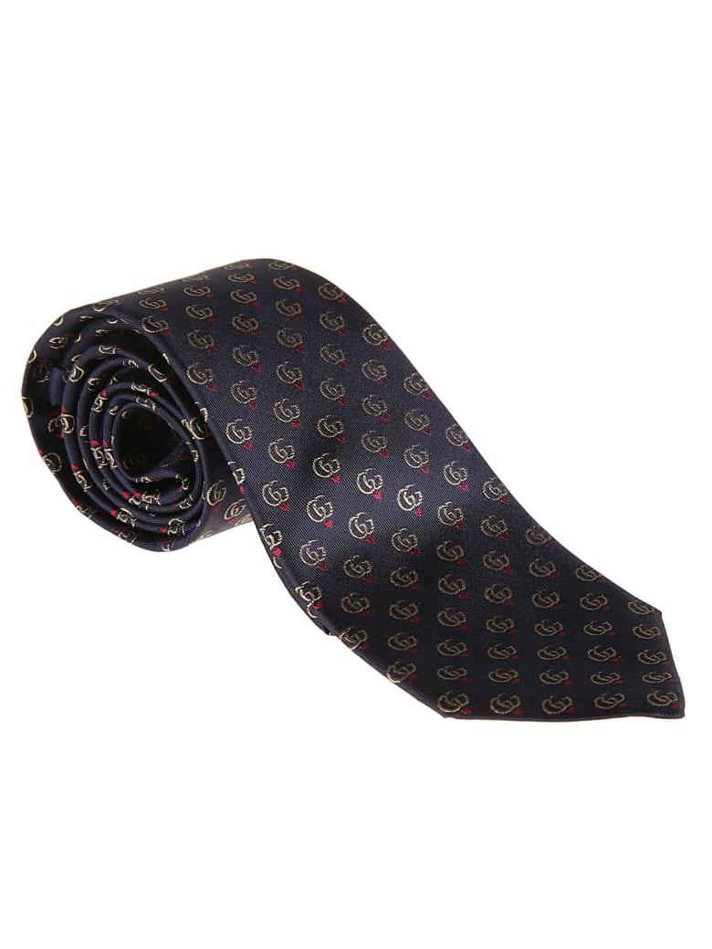 Gucci Lovvy Neck Tie - blue
