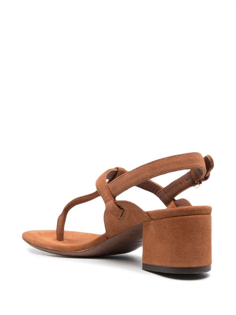 L'Autre Chose Brown Suede Leather Sandals - Brown