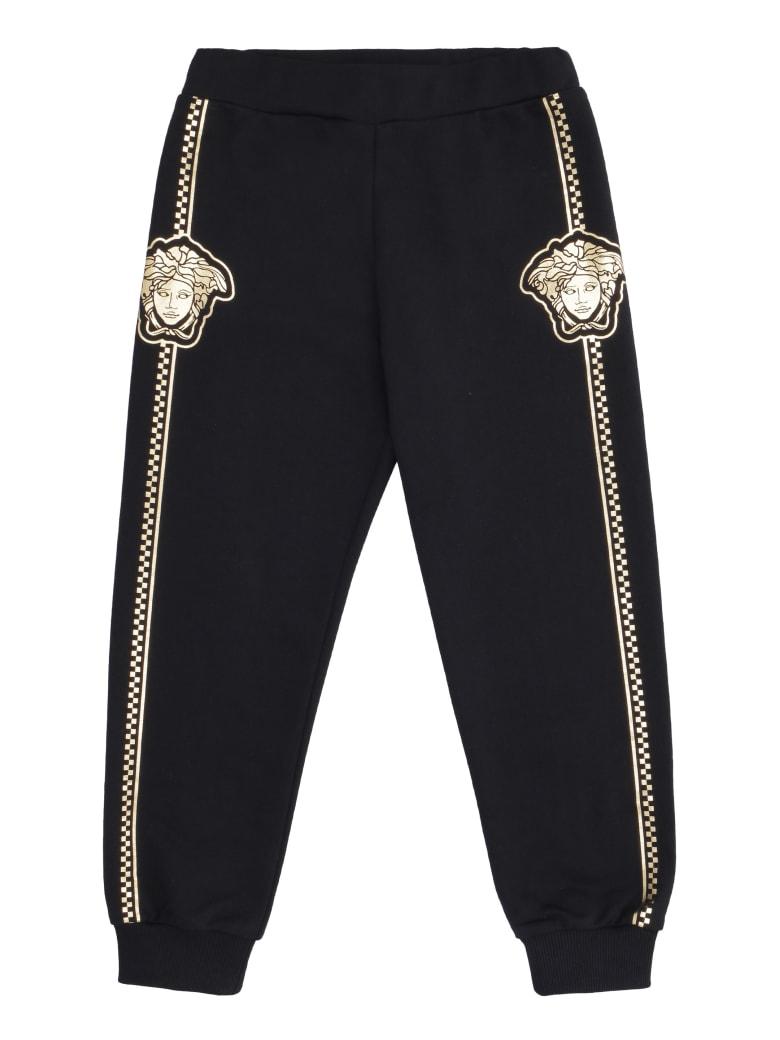 Young Versace Cotton Sweatpants - black