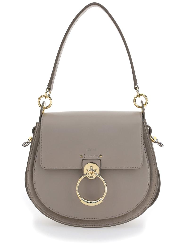 Chloé Large Tess Shoulder Bag - Motty grey
