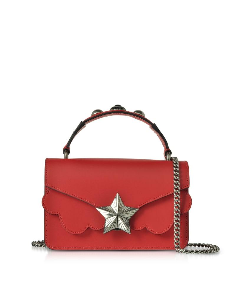 Les Jeunes Etoiles Red Leather Vega Mini Shoulder Bag - Red