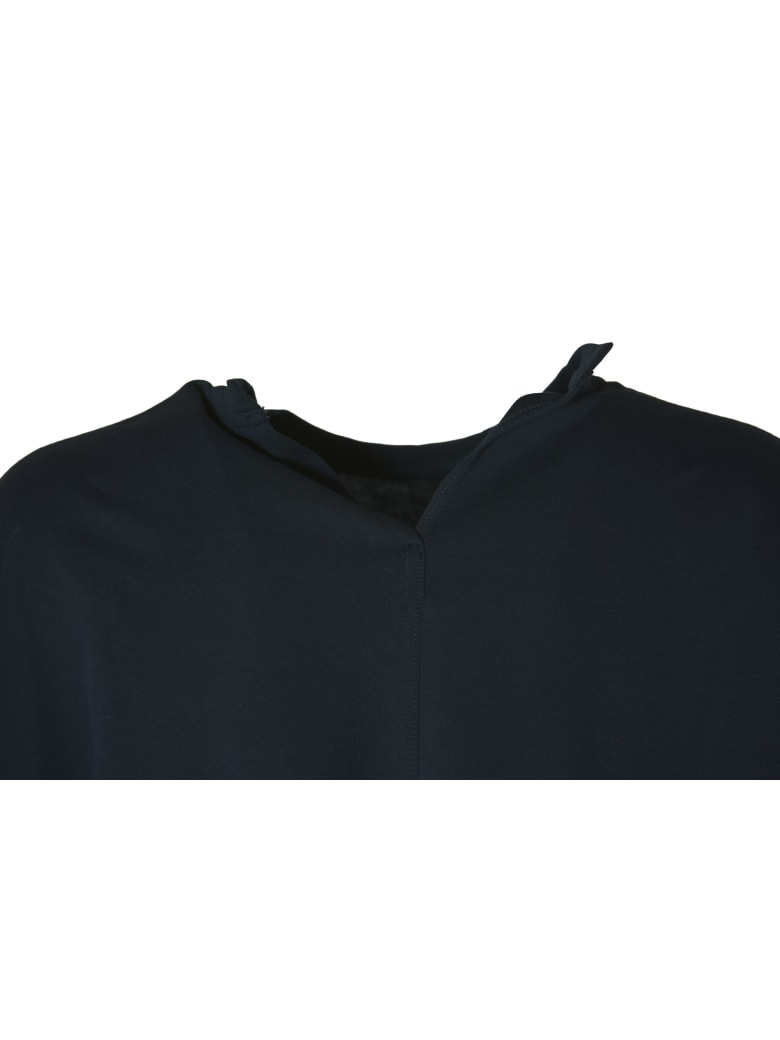 Sofie d'Hoore Long Sleeve C-neck Sweatshirt In Fine Fleece - Dark Navy