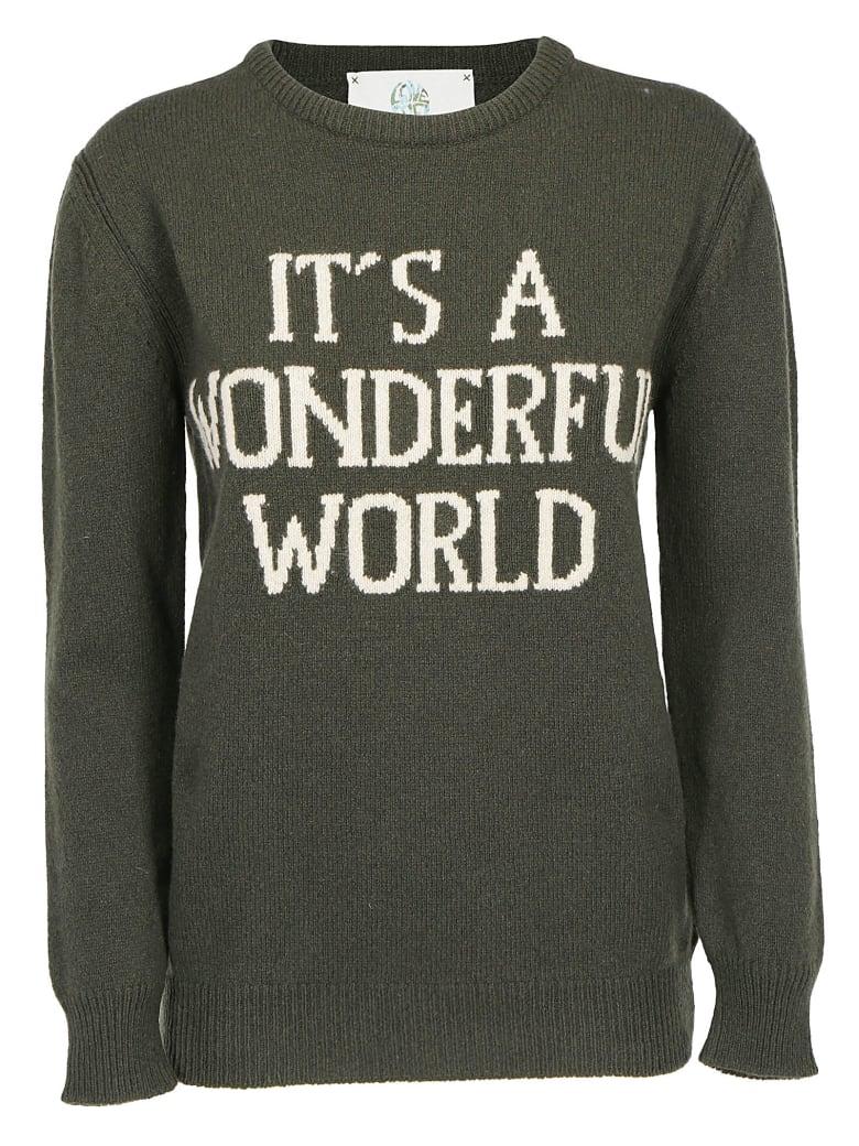 Alberta Ferretti   Its A Wonderful World   Pullover - Army green
