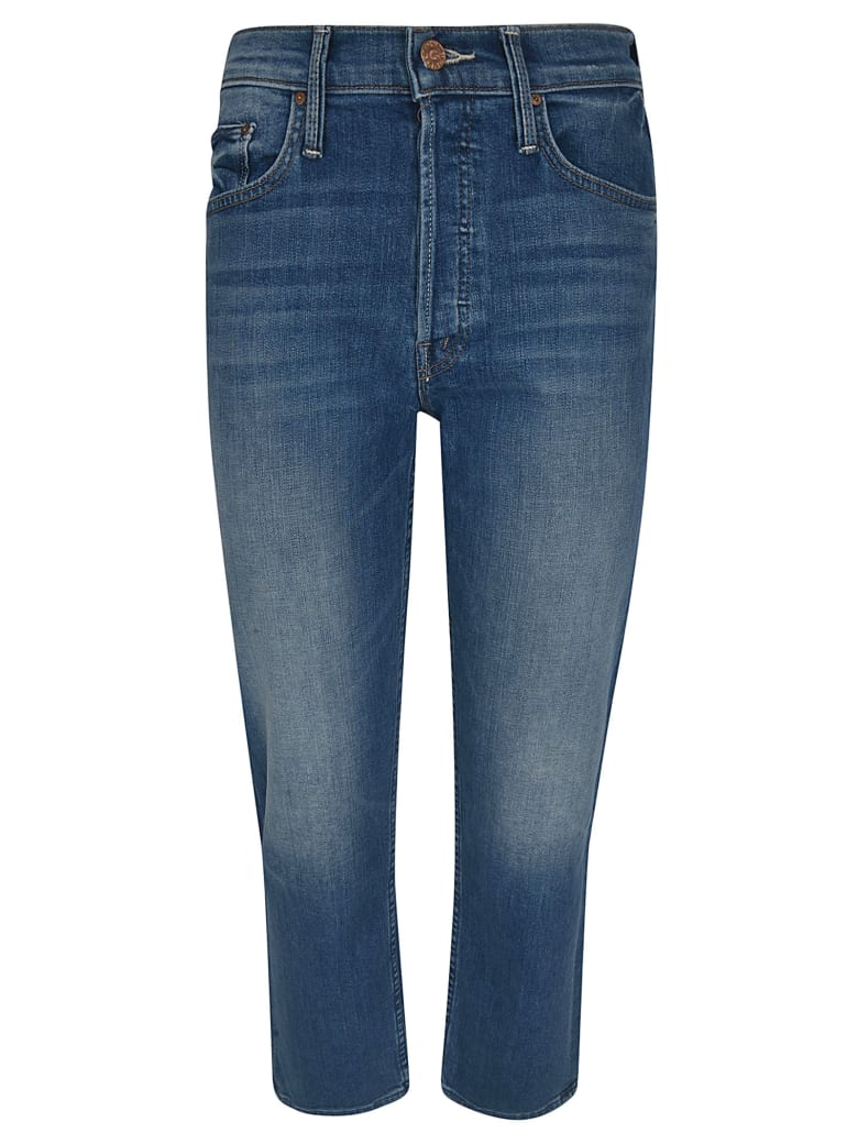 Mother Semi-cropped Fitted Jeans - Stonewash
