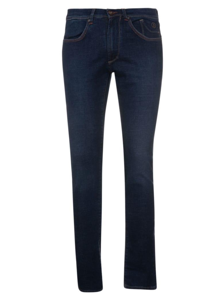 Jeckerson Slim Low Cross Jeans - Mid Dark Blu