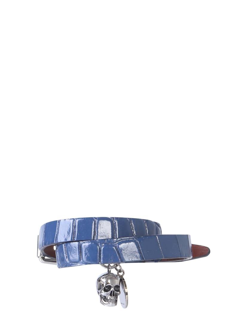 Alexander McQueen Bracelet With Double Turn - BLU