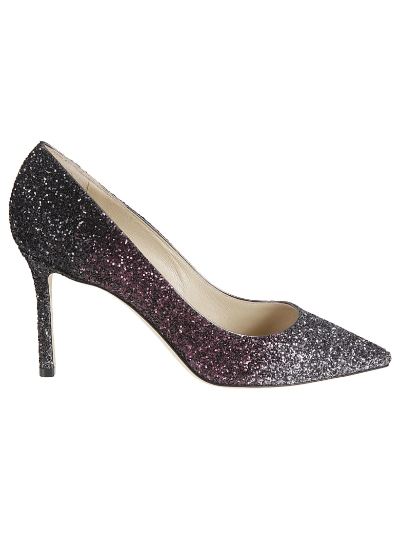 Jimmy Choo High-heeled Shoes - Steelplumblack