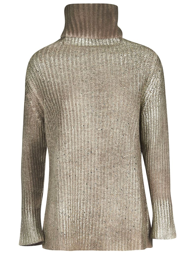 Avant Toi High Neck Sweater - Taupe