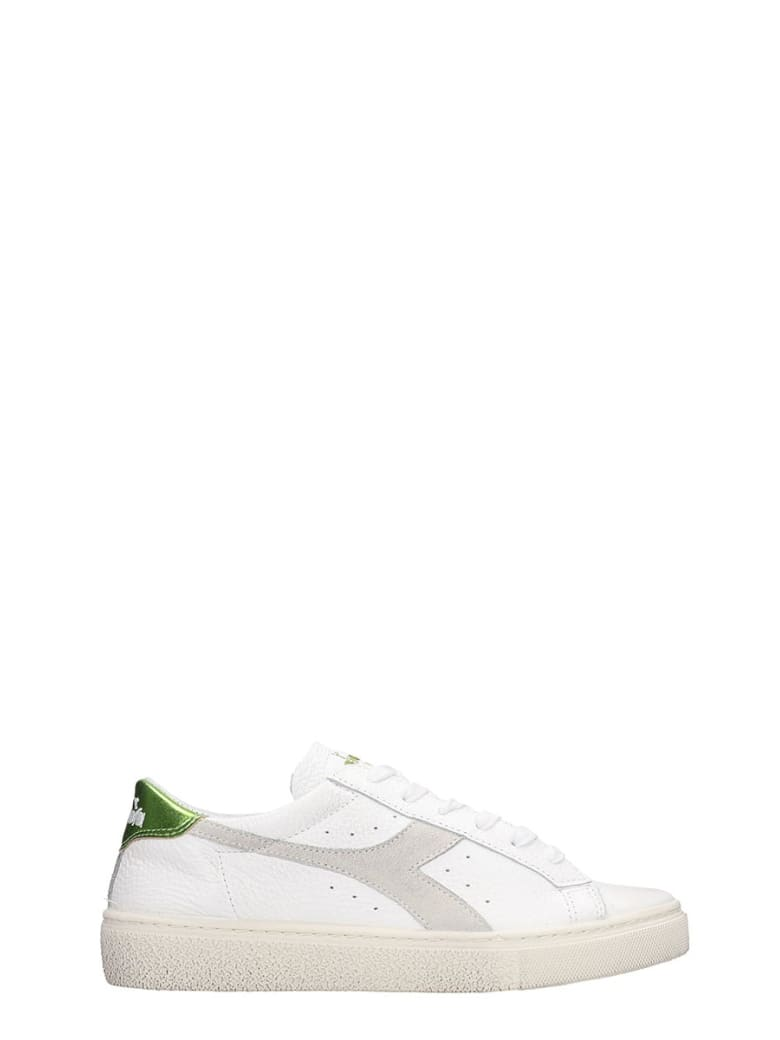 Diadora Montecarlo  Sneakers In White Leather - white