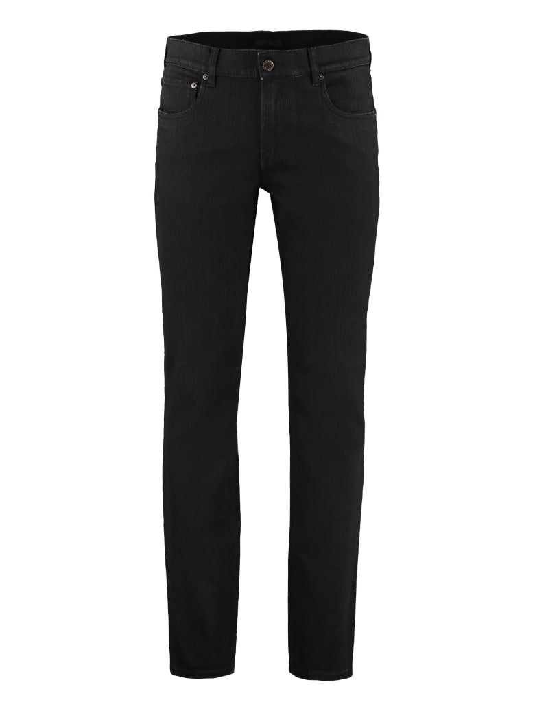 Prada Five Pocket Straight-leg Jeans - black