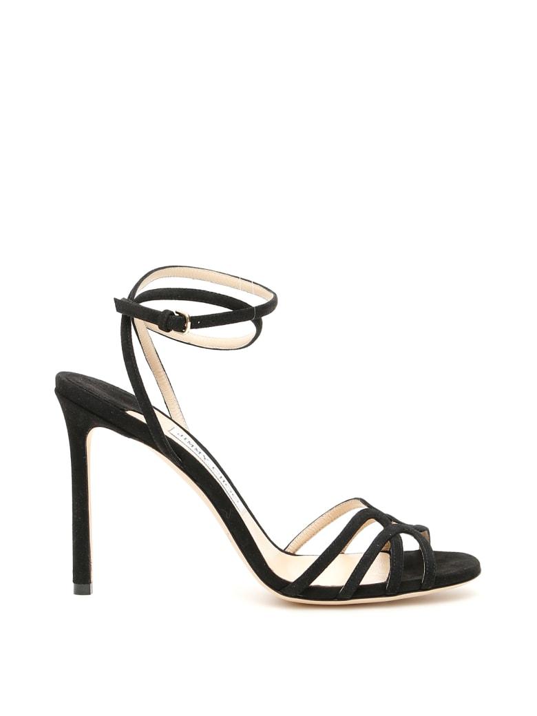 Jimmy Choo Mimi Sandals 100 - BLACK (Black)