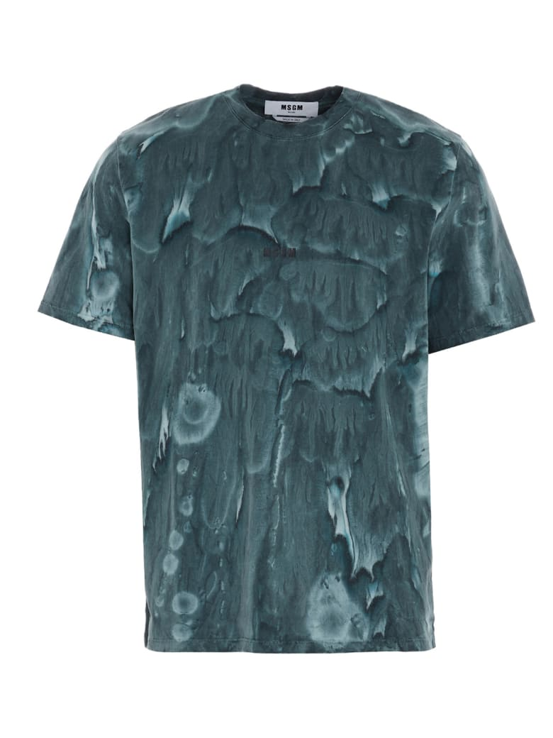 MSGM 'water Color Wash' T-shirt