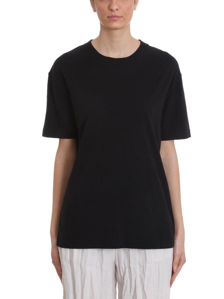 Acne Studios Elice T-shirt In Black Cotton - black