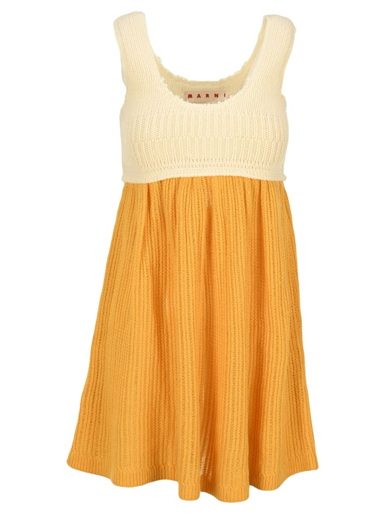 Marni Bicolour Knitted Dress - MAIZENA + WHITE