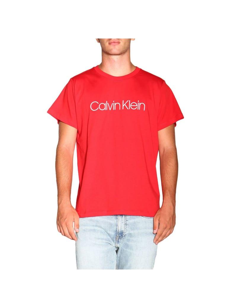 Calvin Klein T-shirt T-shirt With Maxi Calvin Klein Print - red