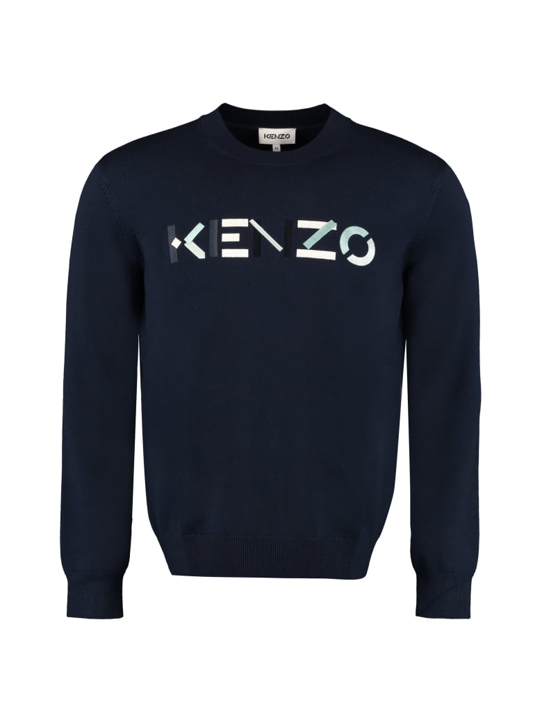 Kenzo Wool Crew-neck Pullover - blue