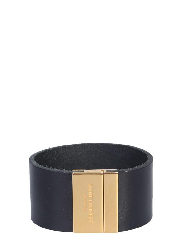 Saint Laurent Magnetic Plate Bracelet - Nero