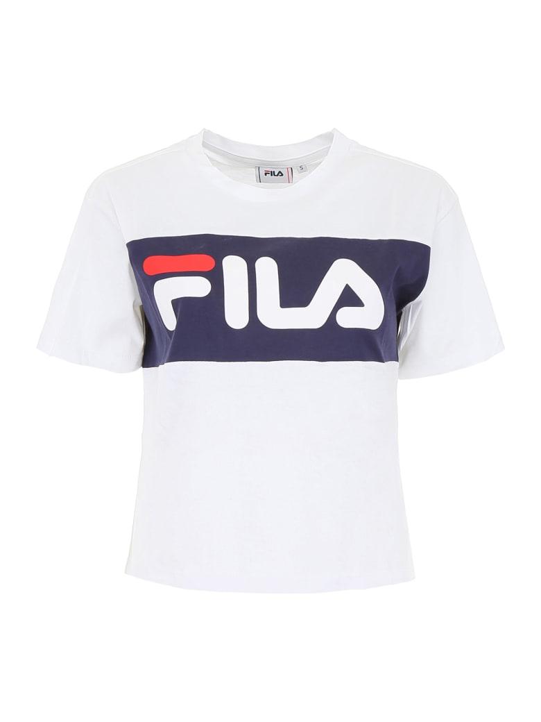 Fila Allison Logo T-shirt - BRIGHT WHITE BLACK IRIS (White)