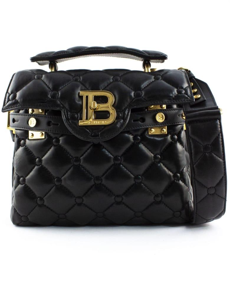 Balmain Black Quilted B-buzz 23 Bag - Nero