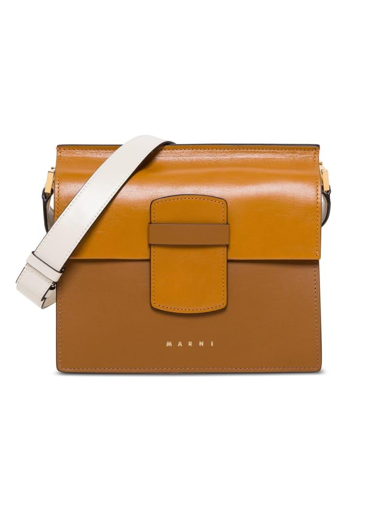 Marni Severine Medium Shoulder Bag In Leather - Brown