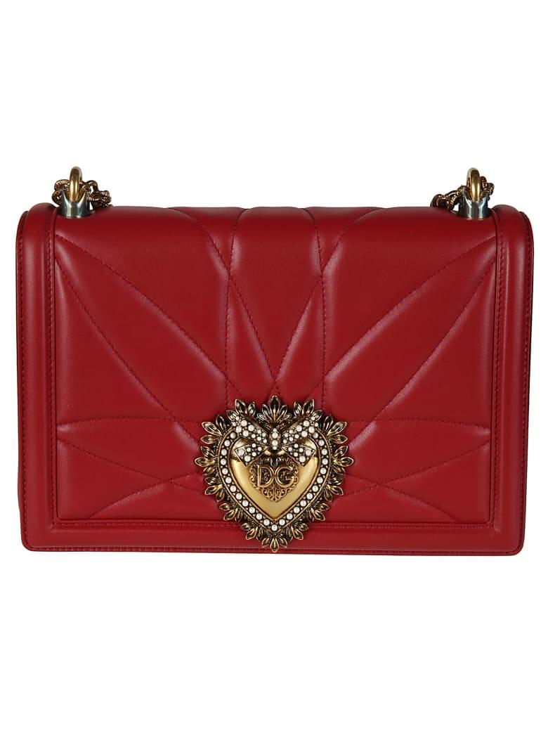 Dolce & Gabbana Quilted Shoulder Bag - red
