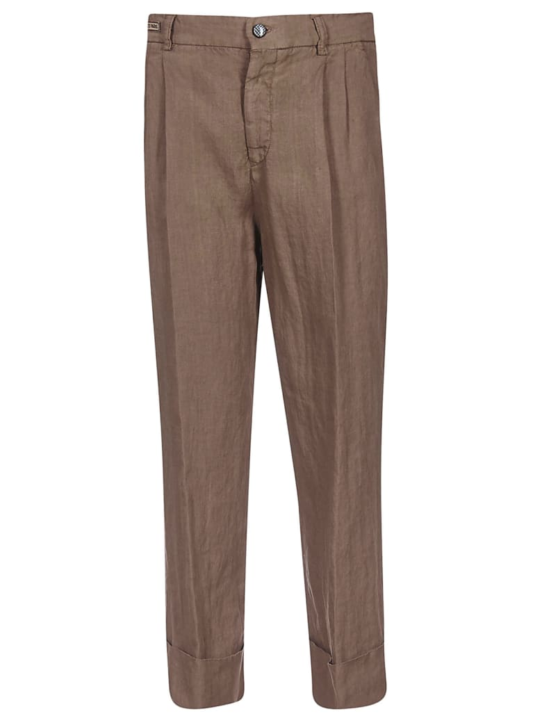 Berwich Cropped Trousers - Brown