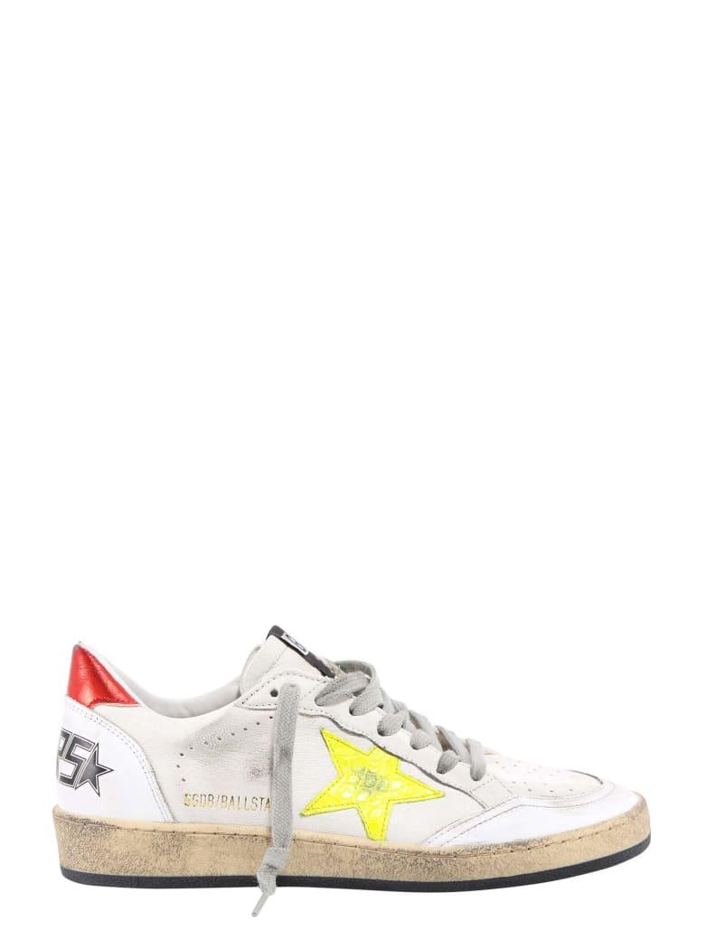 Golden Goose Ballstar Cocco Print Sneakers - Yellow