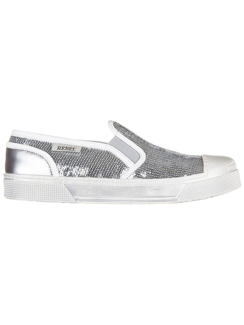 Hogan Rebel R289 Slip-on Shoes - Argento