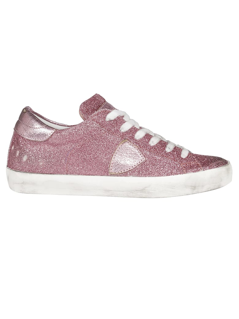 Philippe Model Glittered Sneakers - pink