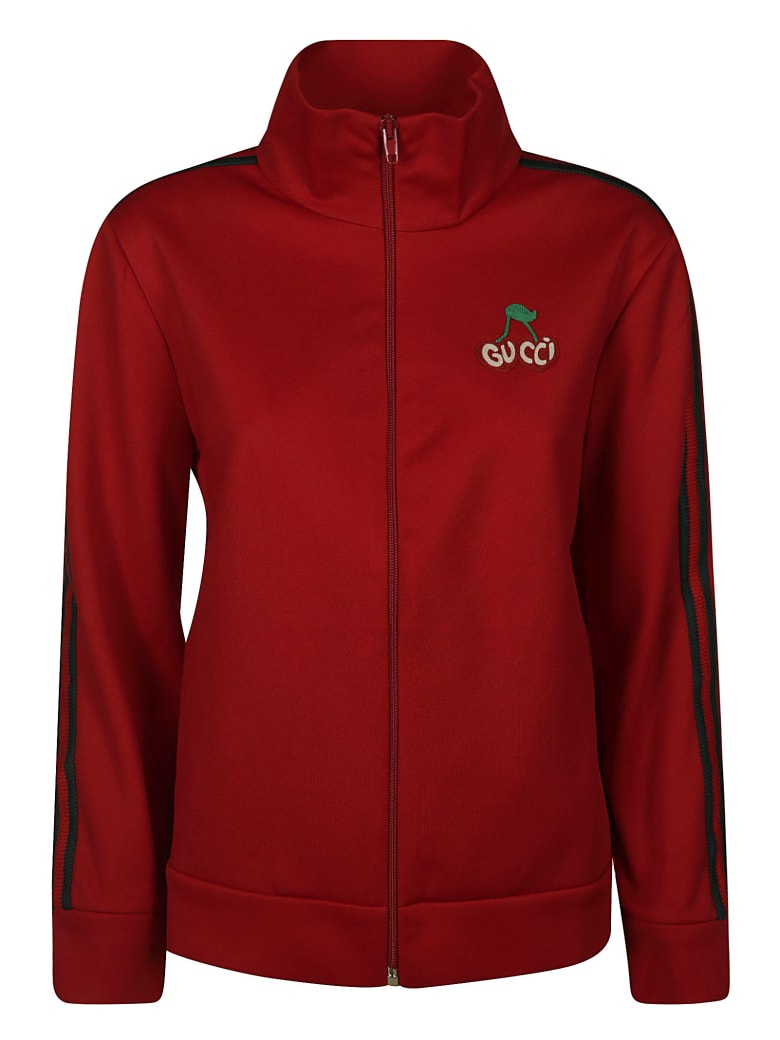 Gucci Logo Bomber - Red