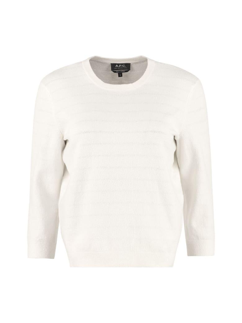 A.P.C. Zoe Cotton-blend Sweater - panna