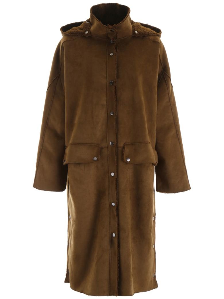 Mes Demoiselles Faux Shearling Coat - KHAKI (Brown)