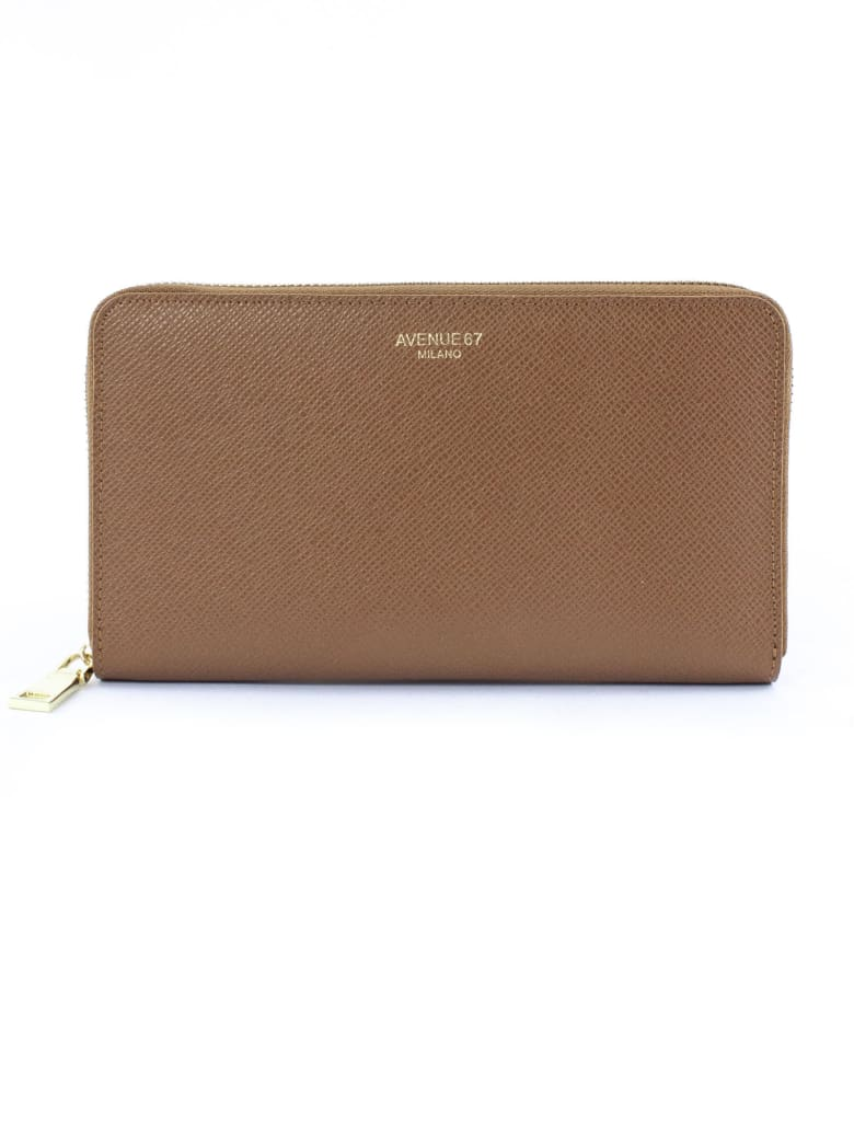 Avenue 67 Brown Leather Wallet - Cuoio