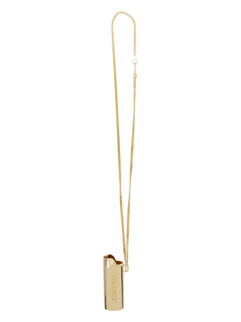 AMBUSH Lighter Case Necklace - Gold
