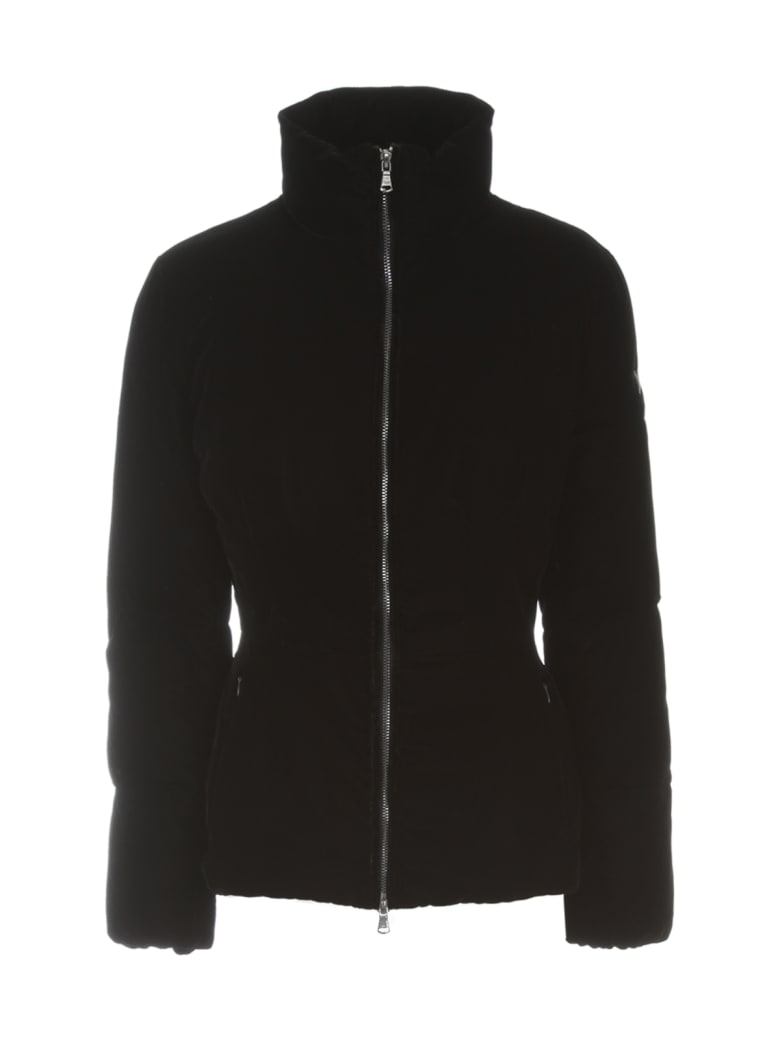 Emporio Armani Short Velvet Slim Fit Padded Jacket - Nero
