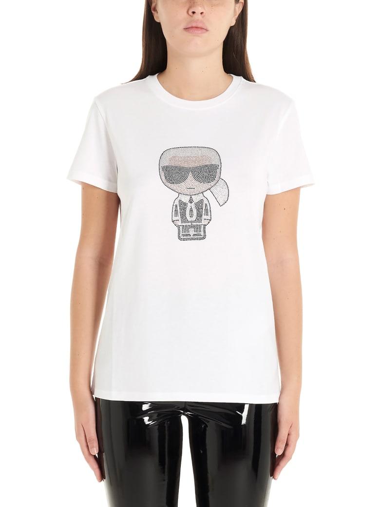 Karl Lagerfeld 'iconic'  T-shirt - White