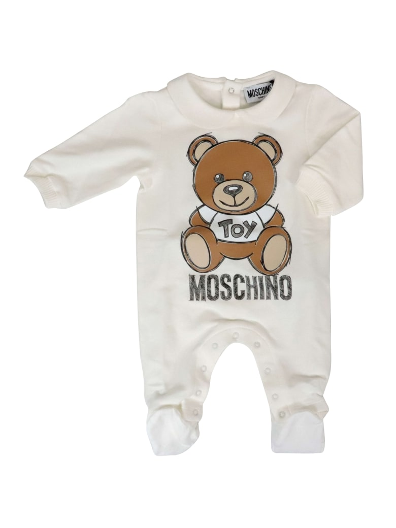 Moschino Cotton Jump Suit - WHITE
