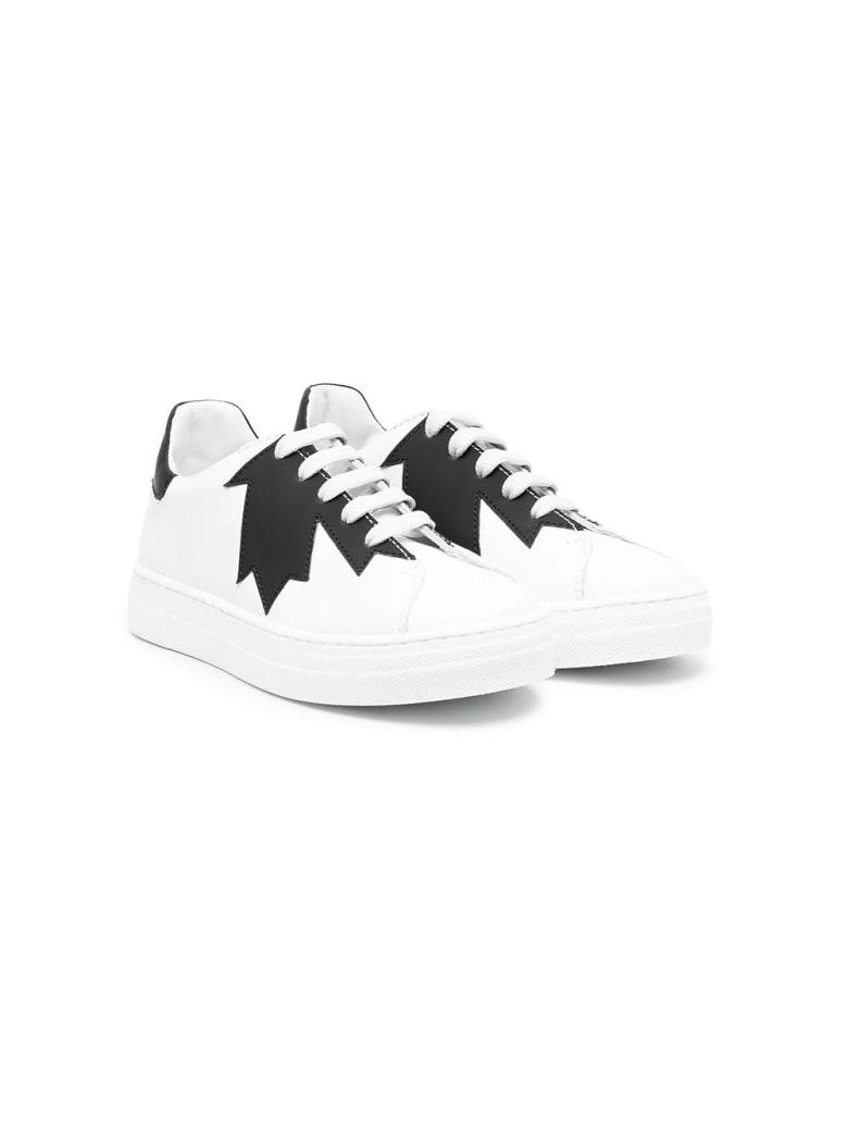 Dsquared2 Print Sneakers - Bianco-nero
