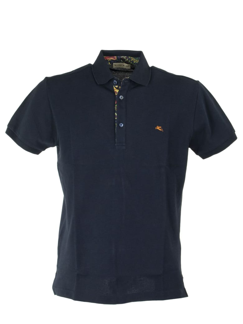 Etro Polo Shirt With Shirt Inserts - Blue